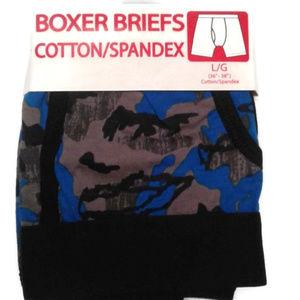 5/$25 S 28 - 30 Men's boxer briefs blue camouflage
